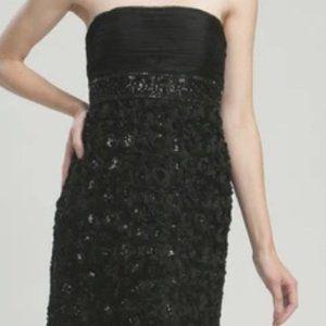 Sue Wong Strapless Cocktail Dress